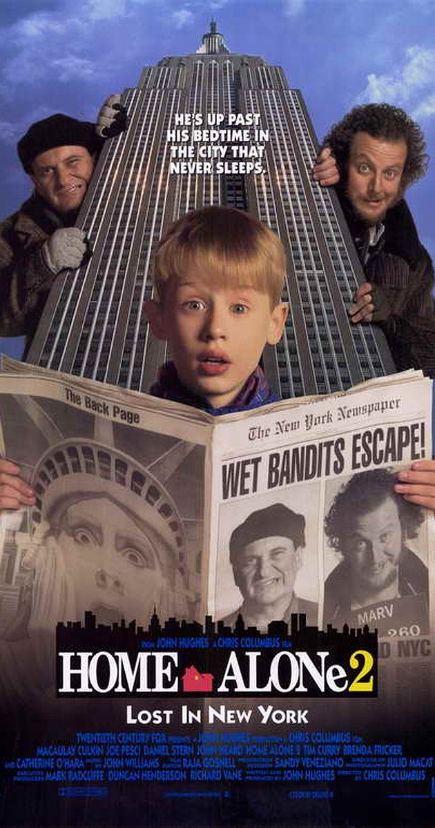 Directed by Chris Columbus. With Macaulay Culkin, Joe Pesci, Daniel Stern, Catherine O'Hara. One year after Kevin was left home alone and had to defeat a pair of bumbling burglars, he accidentally finds himself in New York City, and the same criminals are not far behind.
