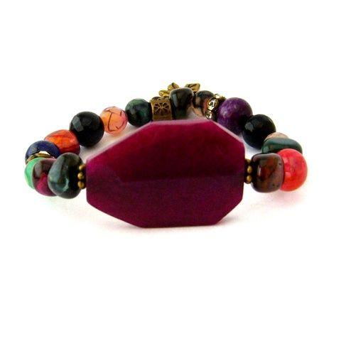 Egy különleges ősz margójára... - színes ásvány és réz karkötő rubin, ónix és lapis lazuli ásvánnyal (ButterflyJew) - Meska.hu