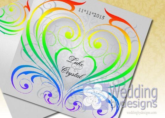 30 best rainbow wedding ideas images on pinterest | rainbow, Wedding invitations