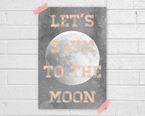 Moon Print. $22.00, via Etsy.Moonlight Drive, The Doors, Canvas Painting, Vapor Qualquer, Quote, Moon Prints, Uh Huh, Swimming, The Moon