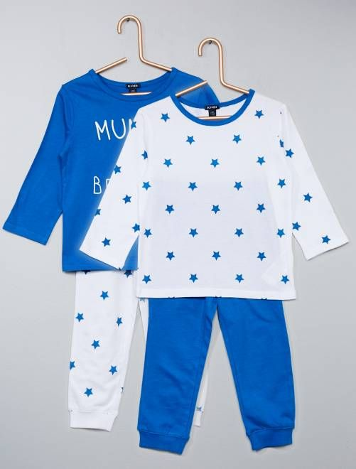 3b8731557 Pack de 2 pijamas estampados azul Bebé niño | Moda infantil in 2019 ...