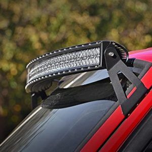"Omotor 50"" Curved Jeep Cherokee LED Light Bar Upper Windshield Mounting Brackets for Jeep Cherokee Xj"
