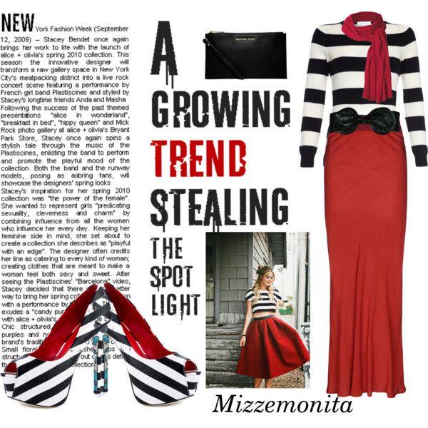 """Growing stripes"" by mizzemonita on Polyvore"