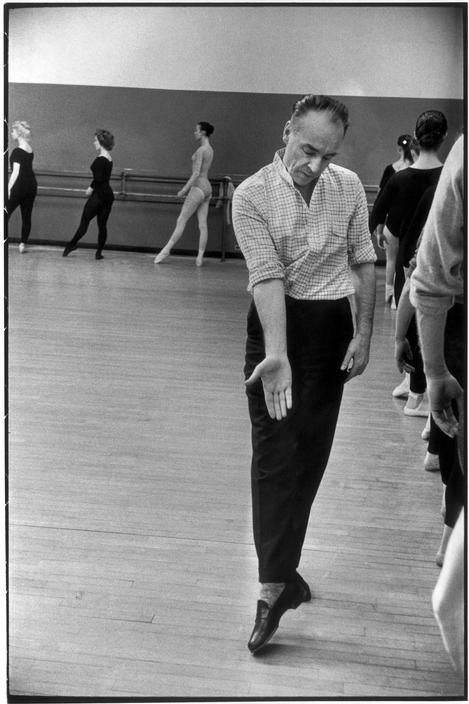 Henri Cartier-Bresson  USA. New York City. 1959. George BALANCHINE, Georgian ballet choreographer, directing the American School of Ballet.