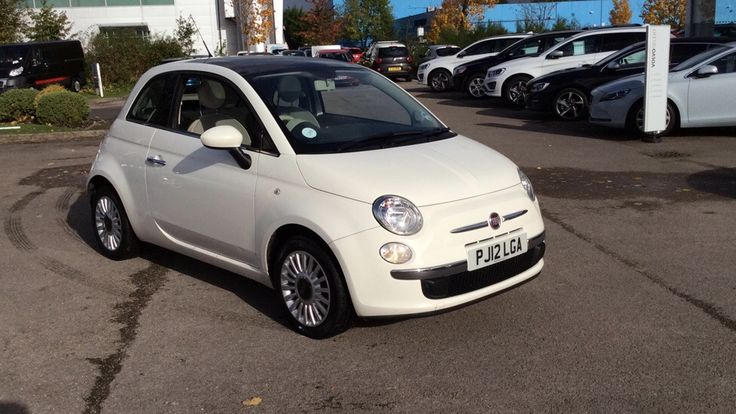 FIAT 500 LOUNGE 3 DOOR HATCHBACK, PETROL, in WHITE, 2012 - This Car Qualifies for Warranty 4 Life - £30 road tax - Almost 60 mpg - 34958 Miles - Air Con - Alloys - Fixed glass sunroof - USB Connectivity - Hands-free calling - Fiat Blue-Me technology - Electric windows - Electric mirrors