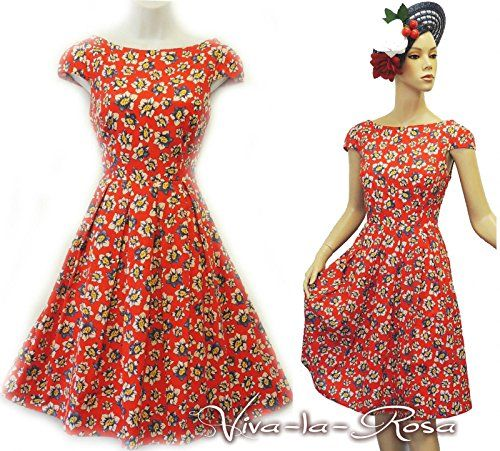 "Rosa Rosa ""Red Blue White Ditsy Floral WWII 1930's/40's Vtg Land Girl Tea Dress Viva-la-Rosa http://www.amazon.co.uk/dp/B00NQ9TDG4/ref=cm_sw_r_pi_dp_WbXjub0N6BTKY"