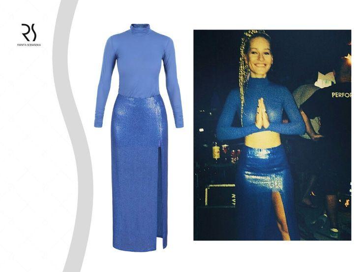 Piosenkarka Marika w sukni RS limited edition  #ranitasobanska #fashiondesigner #marika