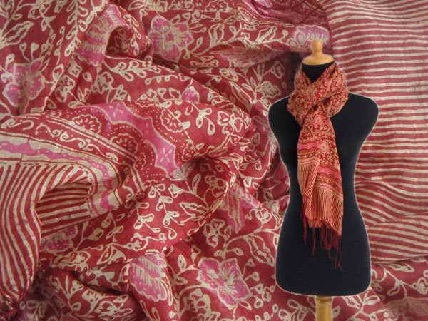 Batik Silk Fabric Scarf