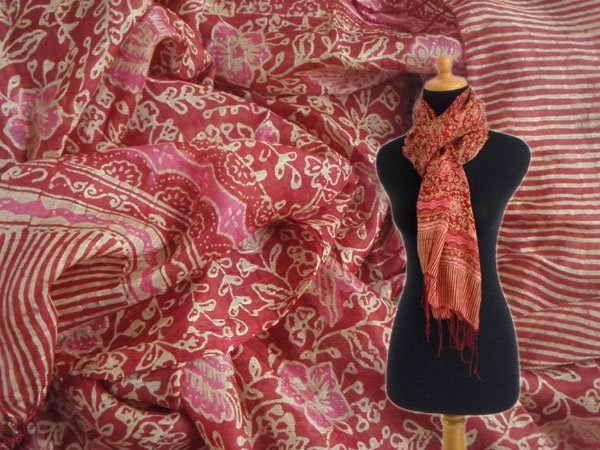 Batik Silk Fabric Scarf