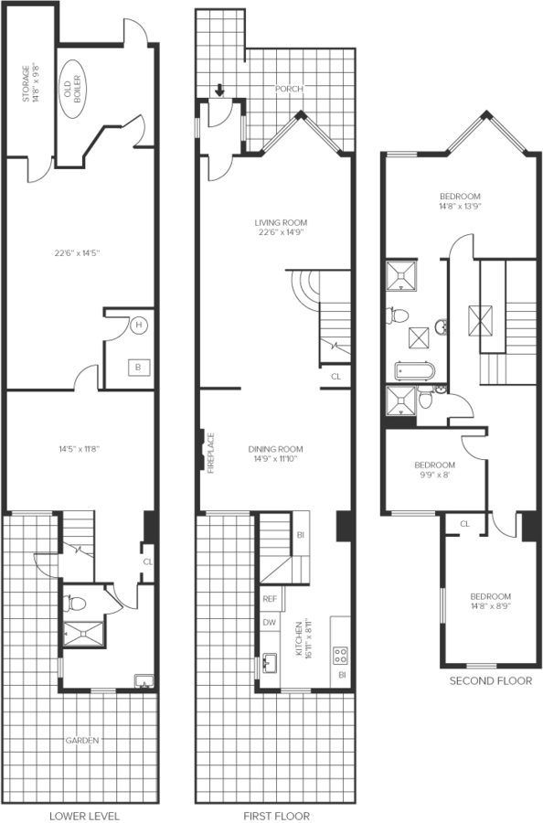 298 best images about floor plans on pinterest house for Contemporary townhouse plans