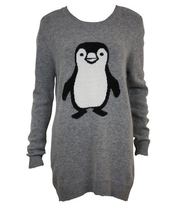 Grey Penguin Wooly Jumper