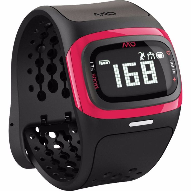 Mio ALPHA 2 Heart Rate Monitor Sports Watch EKG Accurate Black & Pink #Mio