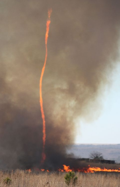 Fire tornado. These are so rare, and awesome to see!