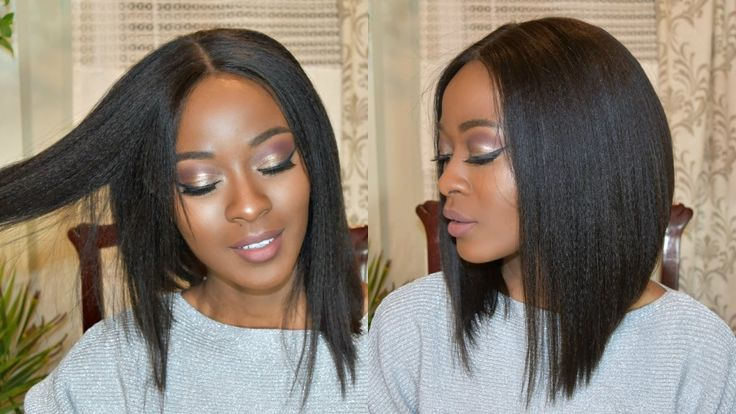 Flirty Middle Part Angled Bob Cut Tutorial [Video]  Read the article here - http://blackhairinformation.com/video-gallery/flirty-middle-part-angled-bob-cut-tutorial-video/