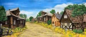 Village 2 Stage Backdrop