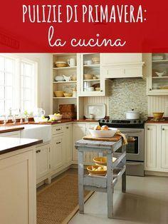 pulire la cucina