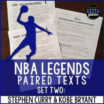 Great for reluctant readers!  Your students will love reading about two of the best players in NBA history. Quizzes and a writing prompt are included.