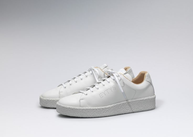 #Eytys Ace Leather in White.