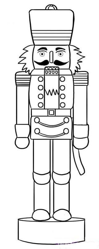 A drawing of a nutcracker soldier. I could use this as a template to make one. :D