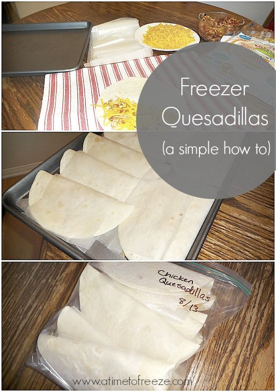 Freezer Quesadillas, perfect for an easy dinner any night of the week! @kimberlycushman