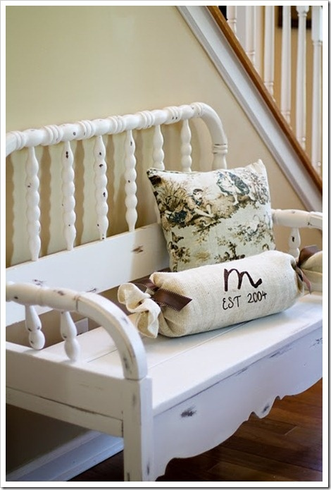 Cute bench from a twin bed: Old Cribs, Trash To Treasure, Headboard Benches, Baby Beds, Benches Tutorials, Diy Headboards, Old Beds, Headboards Benches, Beds Headboards