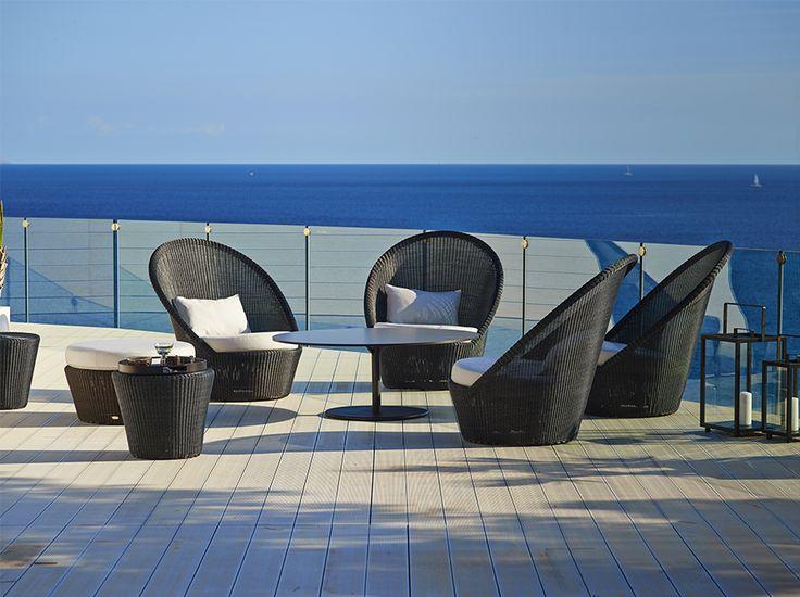 Sunchair disponibile in grafite, mocca e bianco-grigio. Misure: 92x102 cm h 98