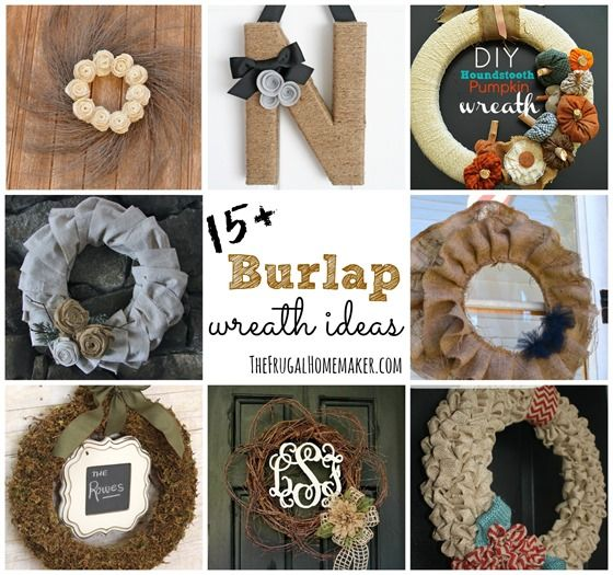 15 Burlap wreath ideas