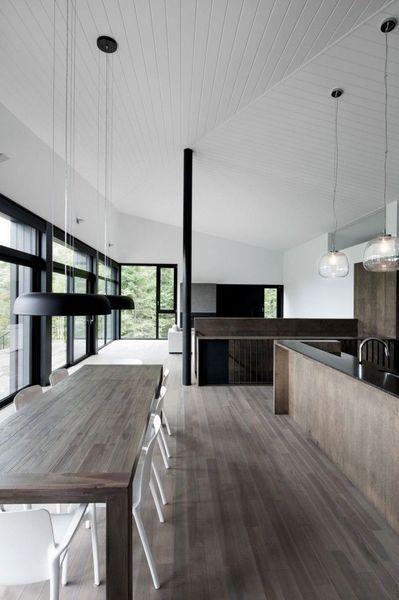 impressionnante maison au canada entre bois et baies vitres plus de photos sur ct - Photo De Maison Au Canada