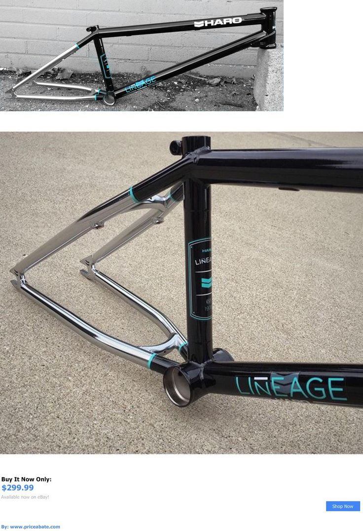 bicycle parts: Haro Lineage Bmx Frame 20.75Tt Black + Chrome BUY IT NOW ONLY: $299.99 #priceabatebicycleparts OR #priceabate