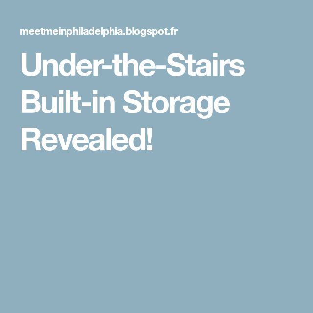 Under-the-Stairs Built-in Storage Revealed!