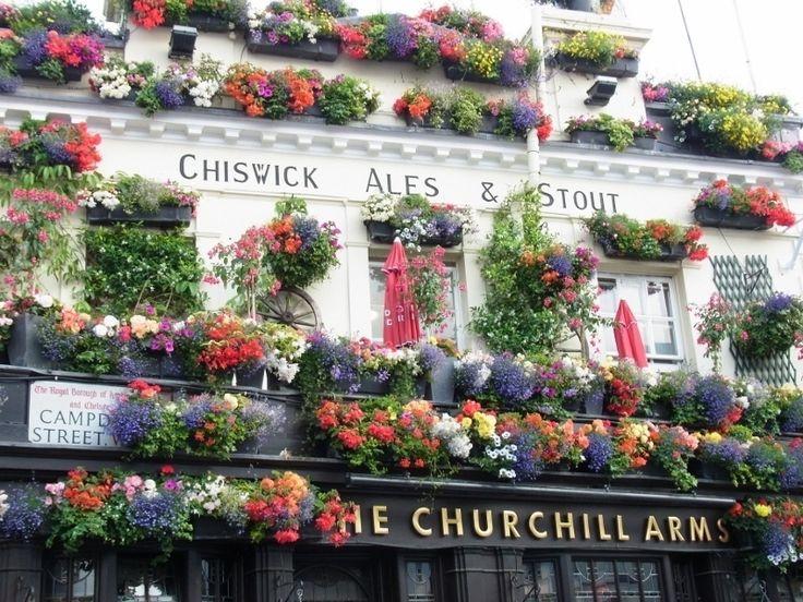 映画の撮影場所としても有名なノッティングヒルは閑静な高級住宅地としてロンドンに住む地元の人たちにも人気のエリアです。このノッティングヒルの通りに、建物の壁が花に囲まれた可愛いパブがありました。今回はそのキュートな外観のパブレストランを紹介します。