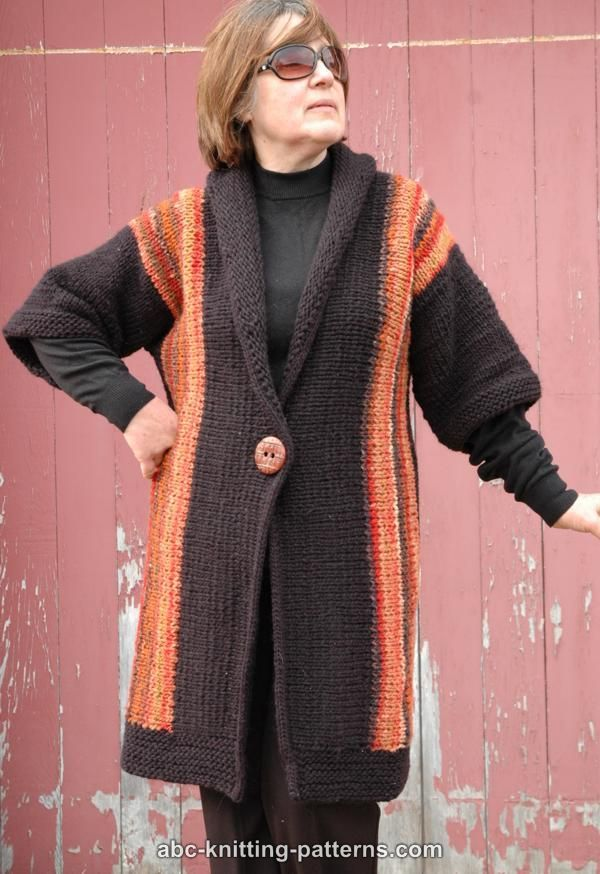 Free pattern ABC Knitting Patterns - New England Springtime Jacket with Shawl Collar and I-Cord Finish