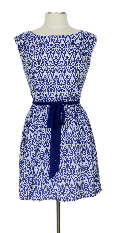 Isn't She Lovely Dress @ Ever Rose #damask #dress #blue #white