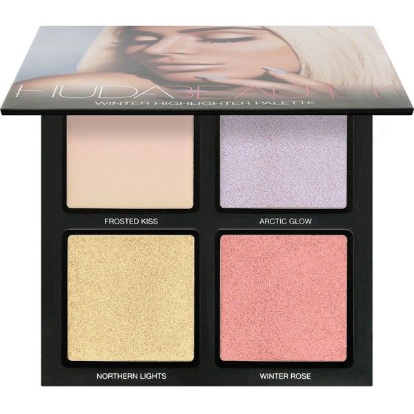 HUDA BEAUTY Winter Solstice Highlighter Palette ($44) ❤ liked on Polyvore featuring beauty products, makeup, face makeup and palette makeup