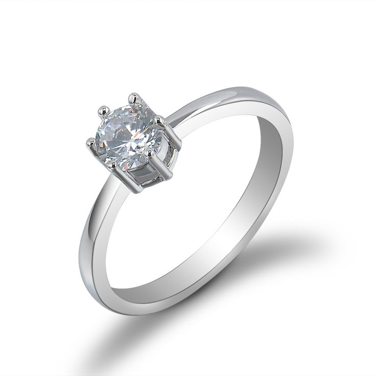 Female Ladies Wedding Engagement Zircon Rings For Women Anel Charm Silver Rhinestone Ring Aneis Jewelry Size 6 7 8 9