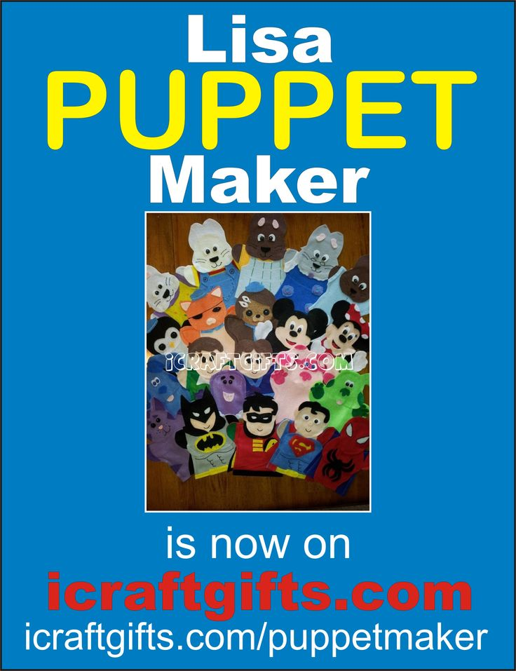 Lisa been making puppets for 8+ years now.  Lisa makes puppets for a french program called Aim Language Learning.   One customer ordered 1000 cow puppets. Lisa Puppet Maker even does custom orders. http://icraftgifts.com/puppetmaker https://www.facebook.com/LisaPuppetMaker Please help Lisa by liking and sharing her page. #teachers #daycare #puppet #puppets #lisapuppetmaker #Felthandpuppets #biryhday #party #Gifts #Easter #fingerpuppets #aimlanuagelearning