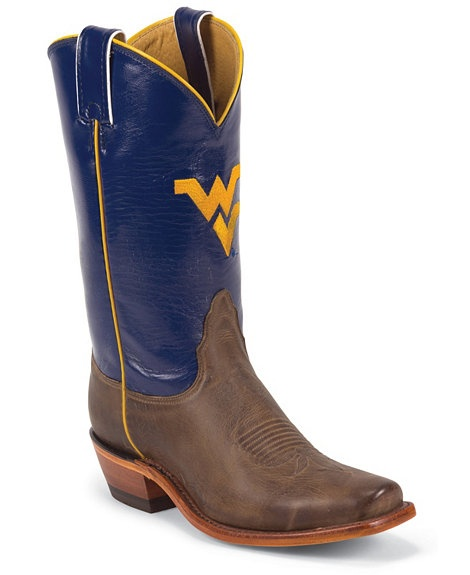 not sure which ones I like better... Nocona Women's University of West Virgina College Boots - Snip Toe