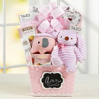 Baby Girl Gift Basket. See more at www.pro-gift-baskets.com!