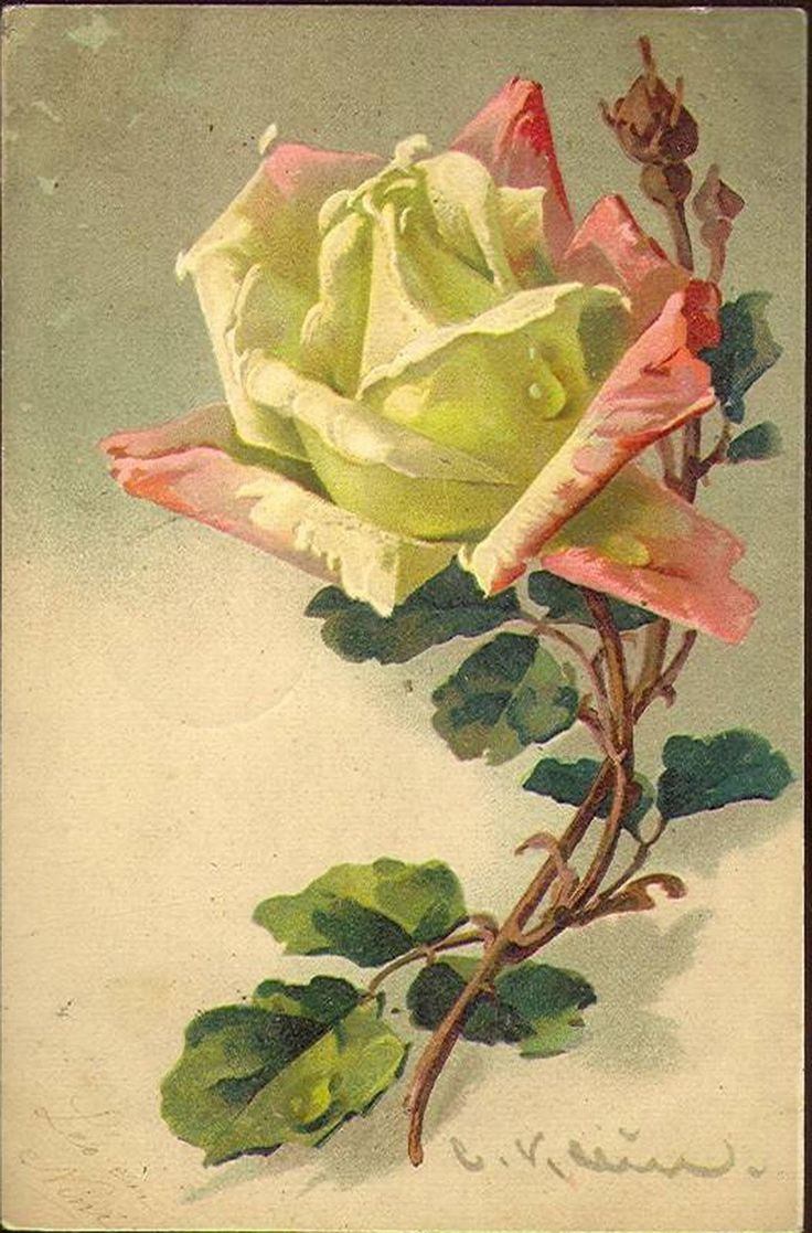 Retro card with roses for decoupage. Discussion on LiveInternet - Russian Service Online Diaries