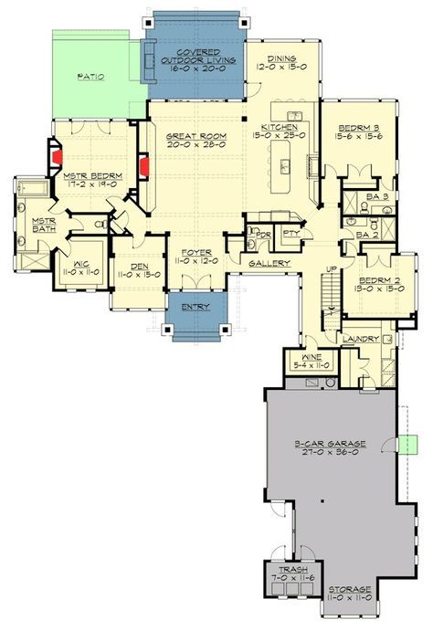 Plan 23610JD: High End Mountain House Plan with Bunkroom