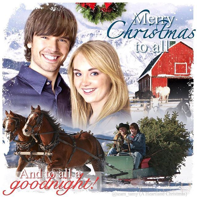 Merry Christmas to all and to all a goodnight! ❤️ #heartland #iloveheartland #heartlandoncbc #tamy #grahamwardle #ambermarshall #love #aheartlandchristmas #horse #horses #sleigh #christmas #winter #canada #cbc #cowgirl #snow @official_heartlandoncbc
