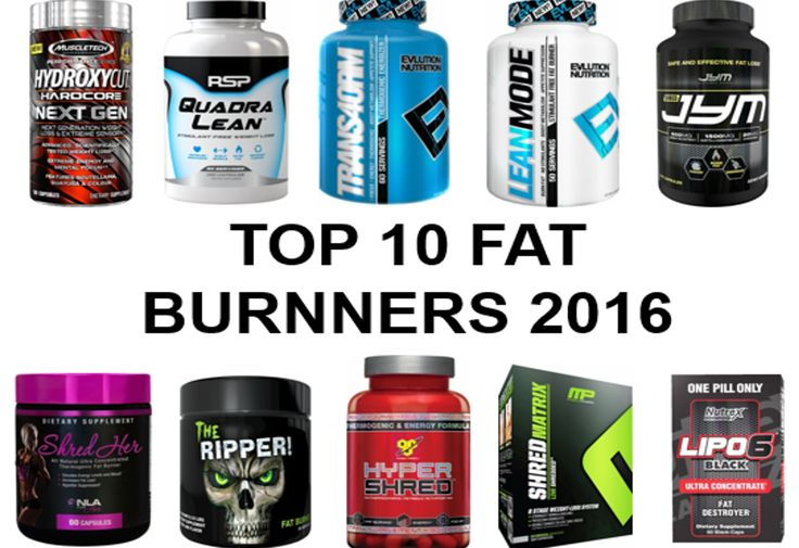 Top 10 Fat Burners For Men & Women - 2016