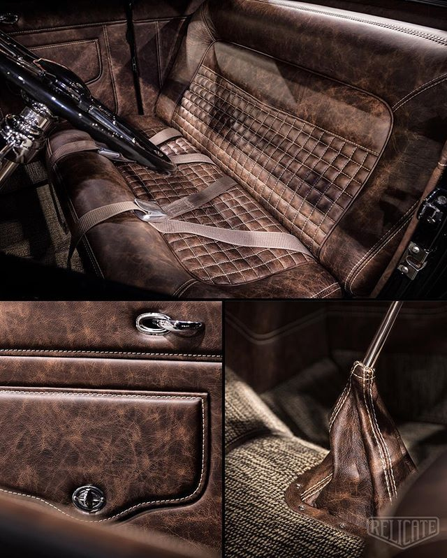 WEBSTA @ relicateleather - The Team:Builder: @flatoutspeedshop Upholstery: @perfectstitched Photography: @johnnyophoto Editing: @arosstyler_photography Venue: @grandnationalroadstershow #relicateleather #relicatedistressed #32ford #distressedleather
