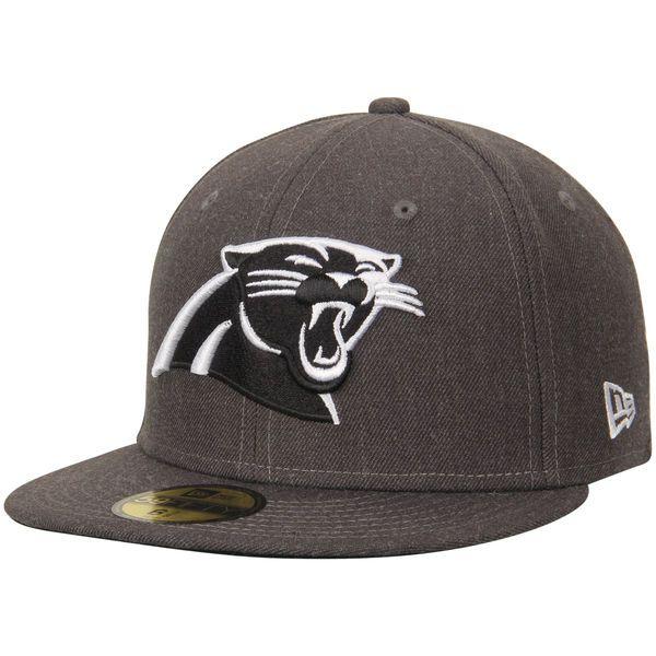 Carolina Panthers New Era Logo 59FIFTY Fitted Hat - Graphite - $34.99