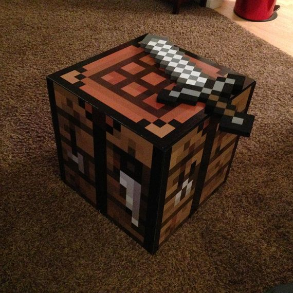 DIY Minecraft Crafting Table Decal Set Make by WilsonGraphics