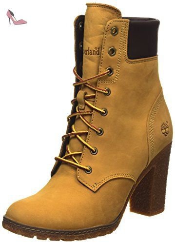 Timberland Ek Glancy 6In, Boots femme, Jaune, 37 EU - Chaussures timberland (*Partner-Link)