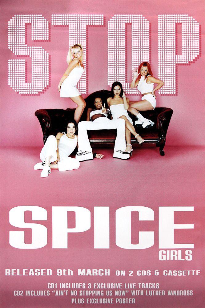 Spice Girls poster – Stop | Large Adshel format