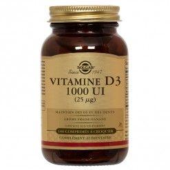 contre la grippe Vitamine D3 1000 UI - 100 comprimés à croquer