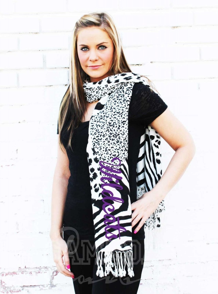Gameday Couture - W6R12 KState Glitter Mix Print Scarf, Contact us at info@gamedaycouture.com (http://www.gameday-couture.com/w6r12-kstate-glitter-mix-print-scarf/)