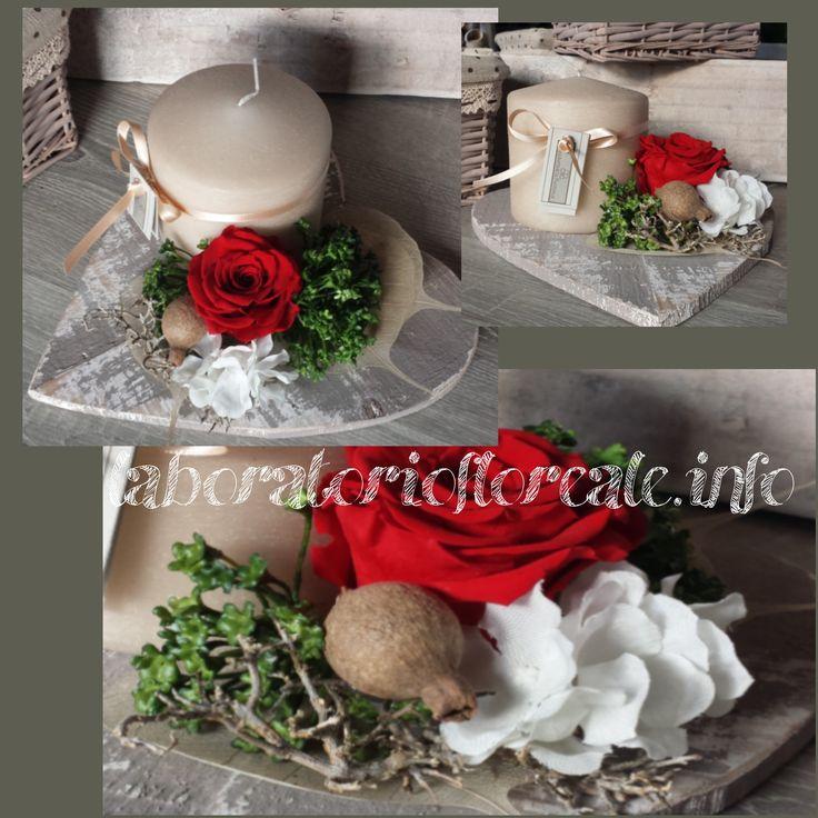 centrotavola con rose stabilizzate